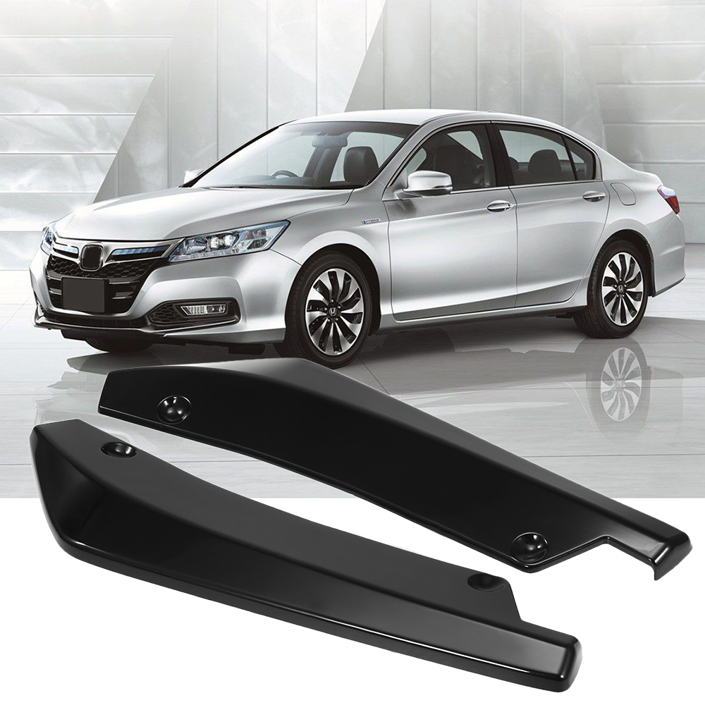 Universal Rear Bumper Lip Angle Splitters Diffuser Decorative Protection Winglets Side Skirt Extensions Black