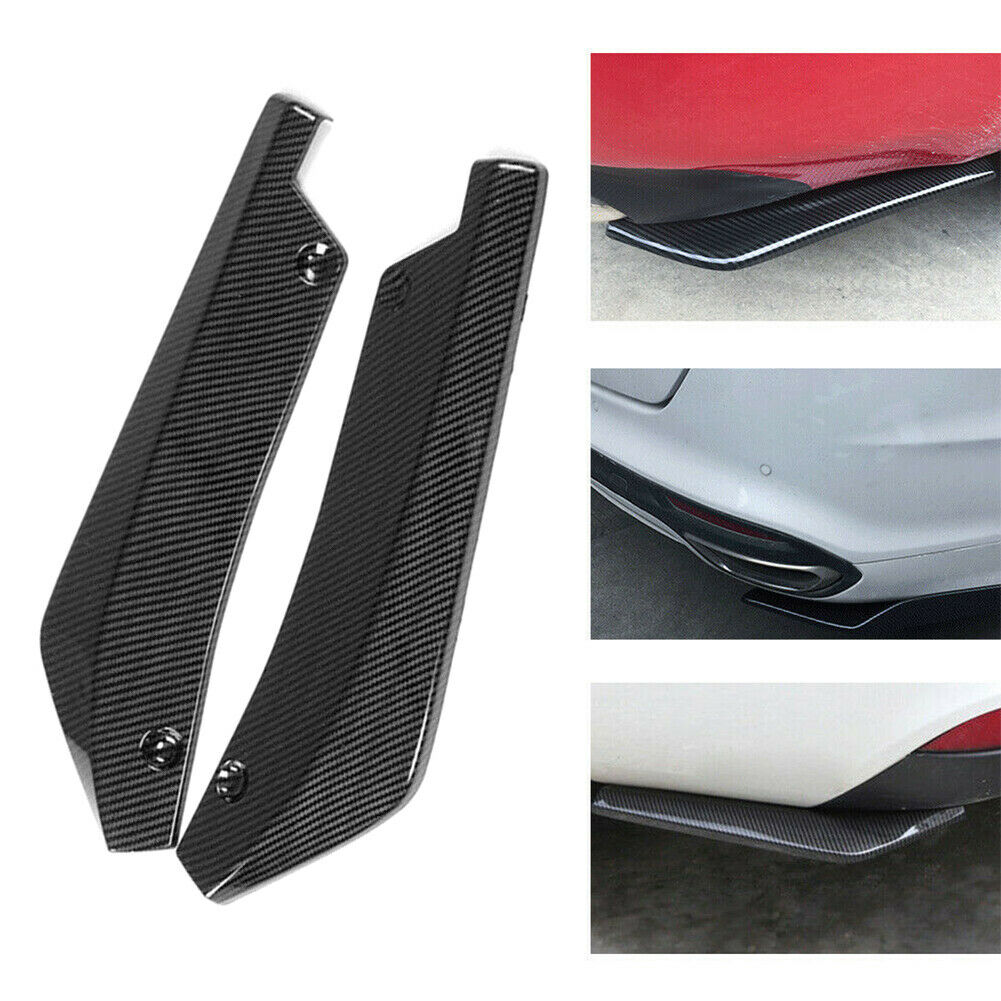 Universal Rear Bumper Lip Angle Splitters Diffuser Decorative Protection Winglets Side Skirt Extensions Carbon fiber color