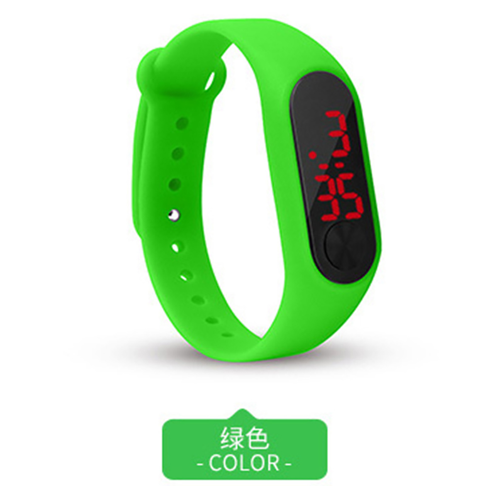 LED Simple Watch Hand Ring Watch Led Sports Fashion Electronic Watch green