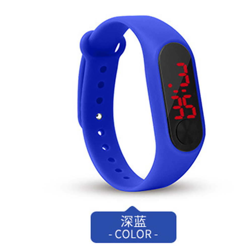 LED Simple Watch Hand Ring Watch Led Sports Fashion Electronic Watch blue