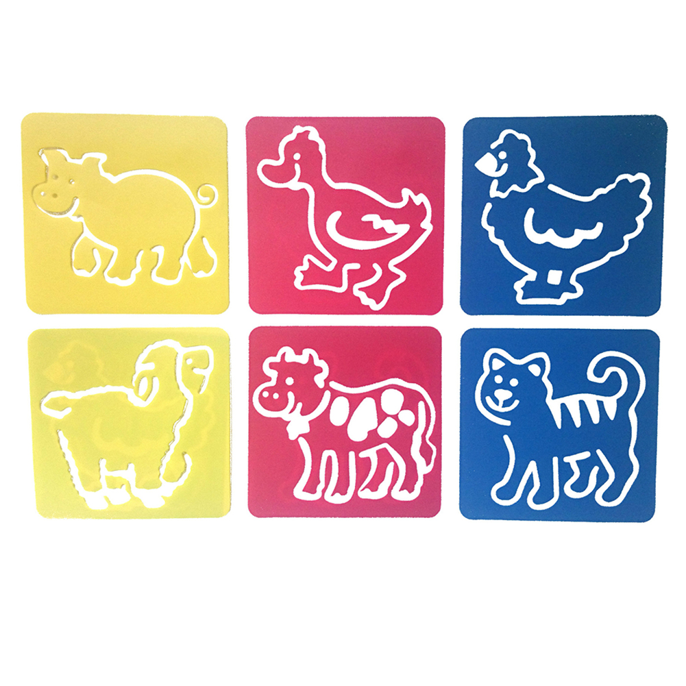 6Pcs Drawing Board Copy Board Diy Christmas Color Painting Toy for Kids H-01