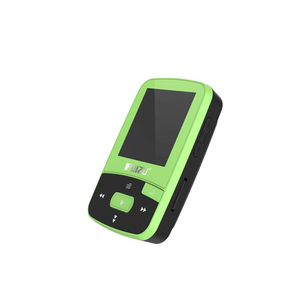 RUIZU X50 MP3 MP4 Music Player 1.5inch Screen Wireless Support Bluetooth4.0 300mAh Battery Lossless FM Radio APE/FLAC/WAV Green