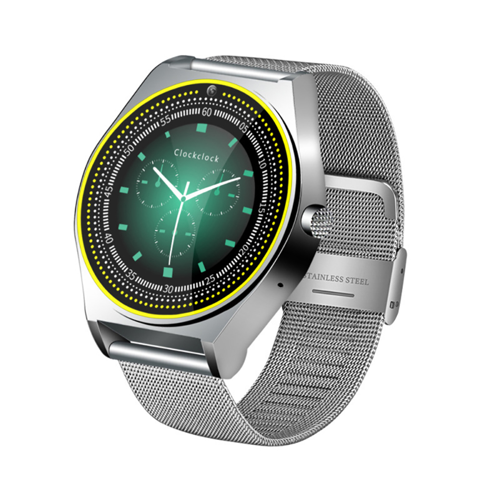 TH38 Health Monitoring Smart Reminder Smart Watch Stainless Steel Strap Photo Surface Screen Foreign language silver