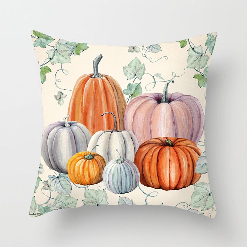 Thanksgiving Day Pumpkin Printed Throw Pillow Cover Pillowcases Decorative Sofa Cushion Cover DRD85-1_45*45cm