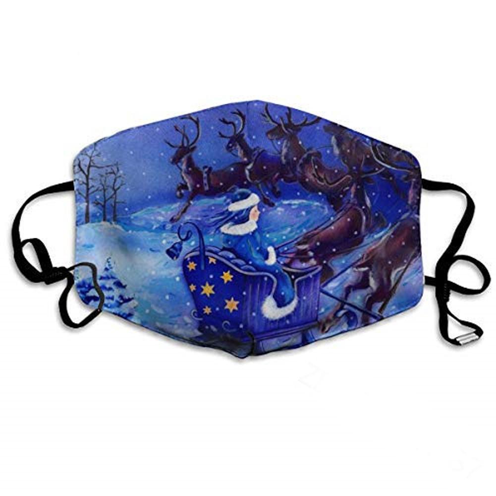 Christmas Mask Breathable Dustproof Cartoon Printing Cotton Mask hmkz00852_Adult