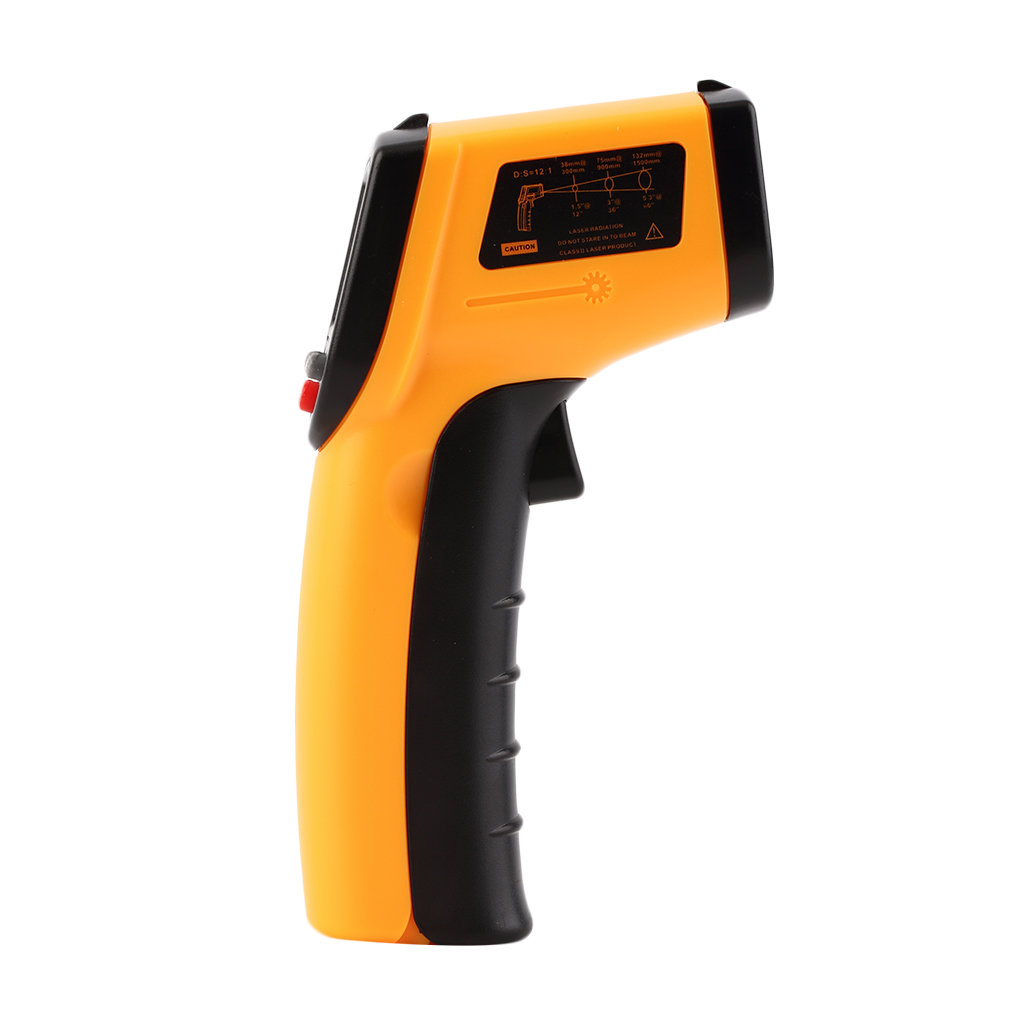Digital Thermometer Infrared Handheld Temperature Device Non-contact Ir Thermometer yellow