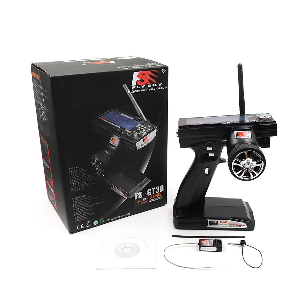Flysky FS GT3B 2.4G 3ch RC System Gun Remote Control Transmitter and Receiver for RC Car RC Boat default