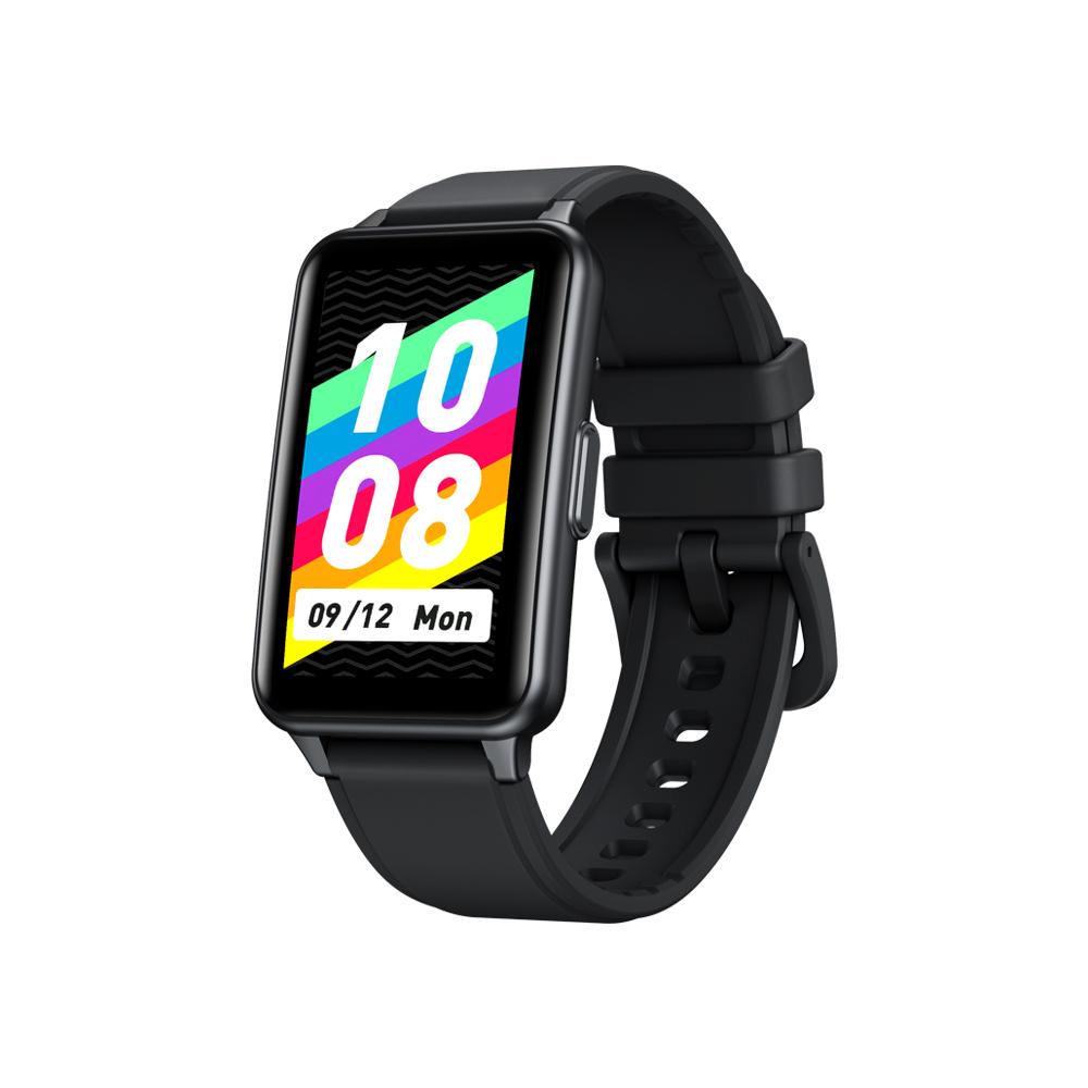 Zeblaze Meteor Blood Oxygen Blood Pressure Heart Rate Monitoring Custom Dial Touch Screen Smart  Bracelet Black