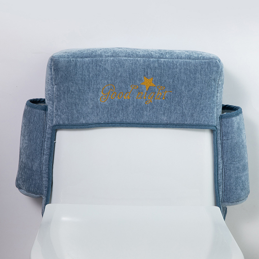 Household Waterproof Toilet Paper Storage Pouch Wear-resistant Toilet Cover  blue-gray