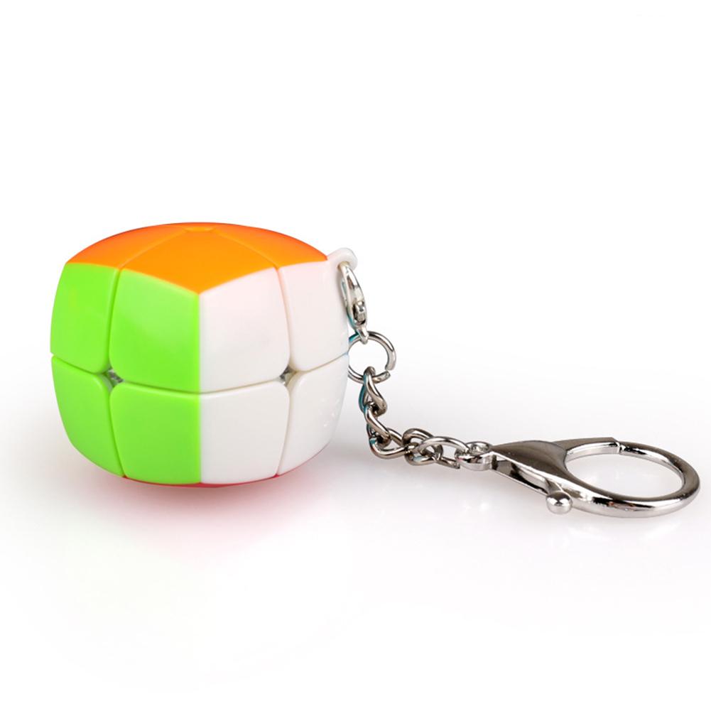 Qiyi Magic cube 2 x 2 Key ring Magic cube Mini Pocket Speed Cube Keyring Puzzle color
