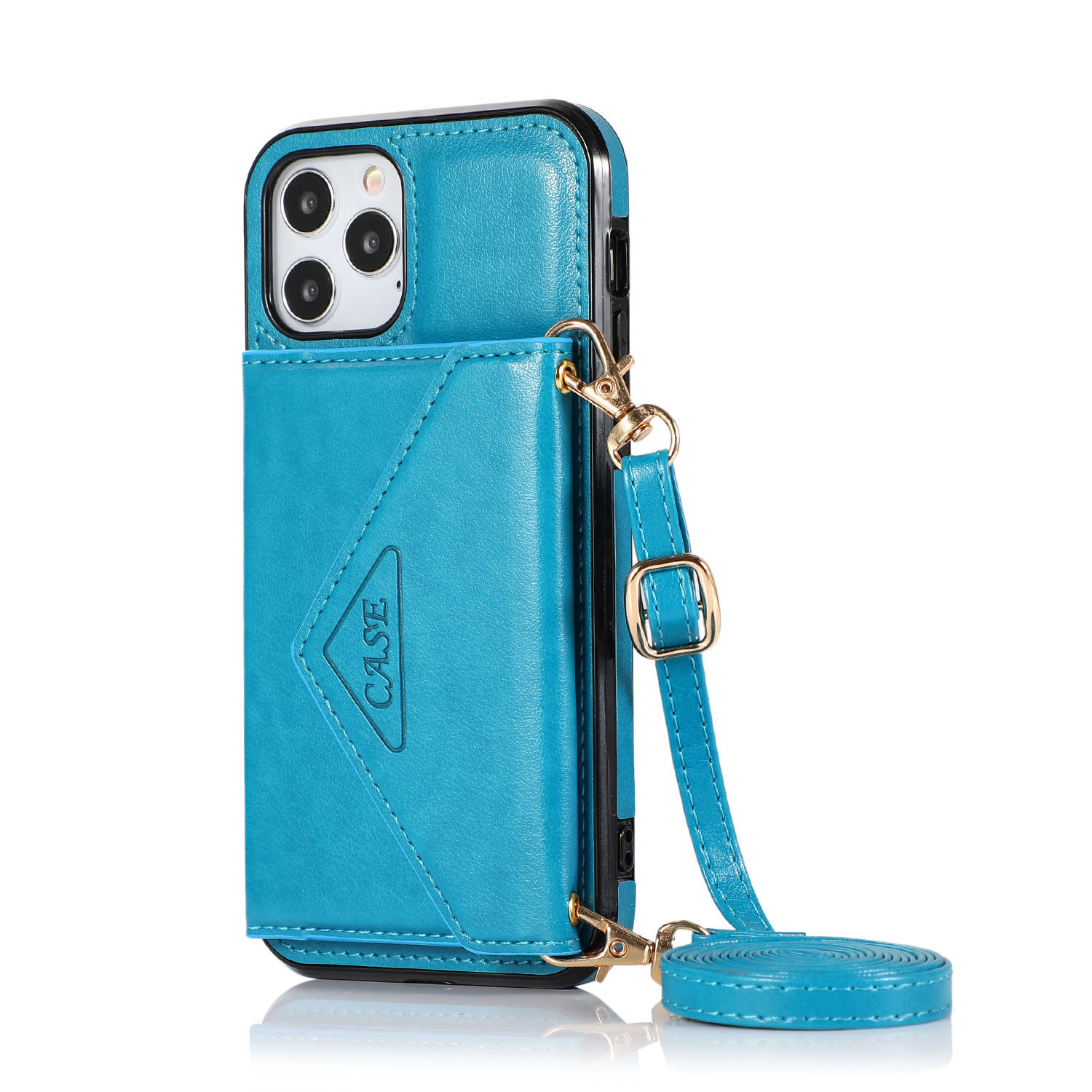 Mobile Phone Case Protective Case Cover For Iphone12/12 Pro Messenger Bag blue