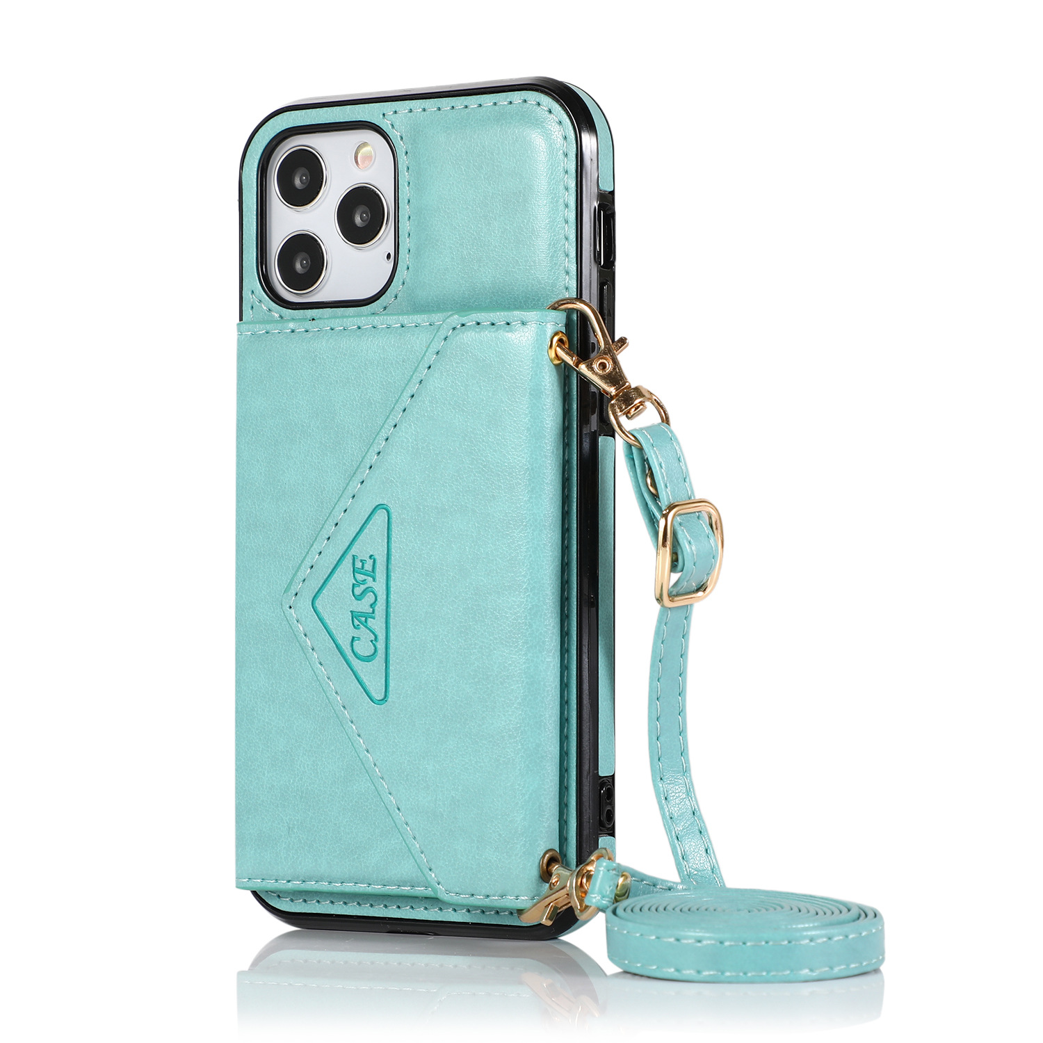 Mobile Phone Case Protective Case Cover For Iphone12/12 Pro Messenger Bag Mint Green
