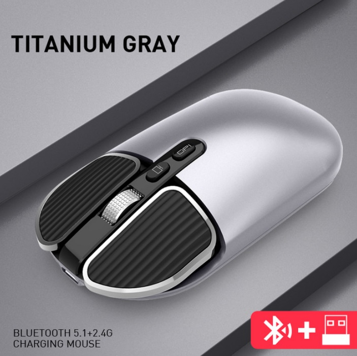 M203 Computer Mouse Wireless Bluetooth Silent Mouse for Desktop Laptop Silver