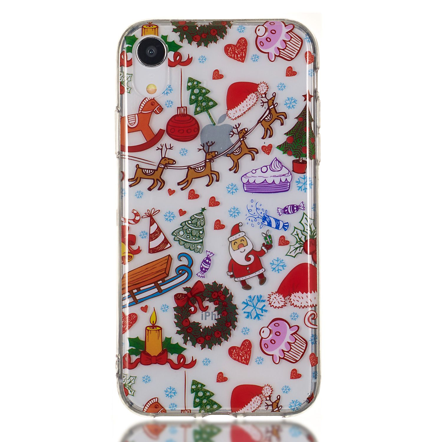 Christmas New Year Gifts Cell Phone Case TPU Soft Comfortable Phone Shell for iPhoneXR