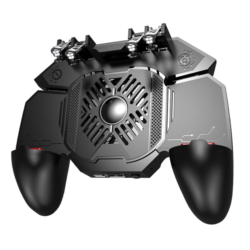 Joystick Controller AK88 Six Finger All-In-One Gamepad for PUBG IOS Android L1 R1 Trigger Operating Gamepad black