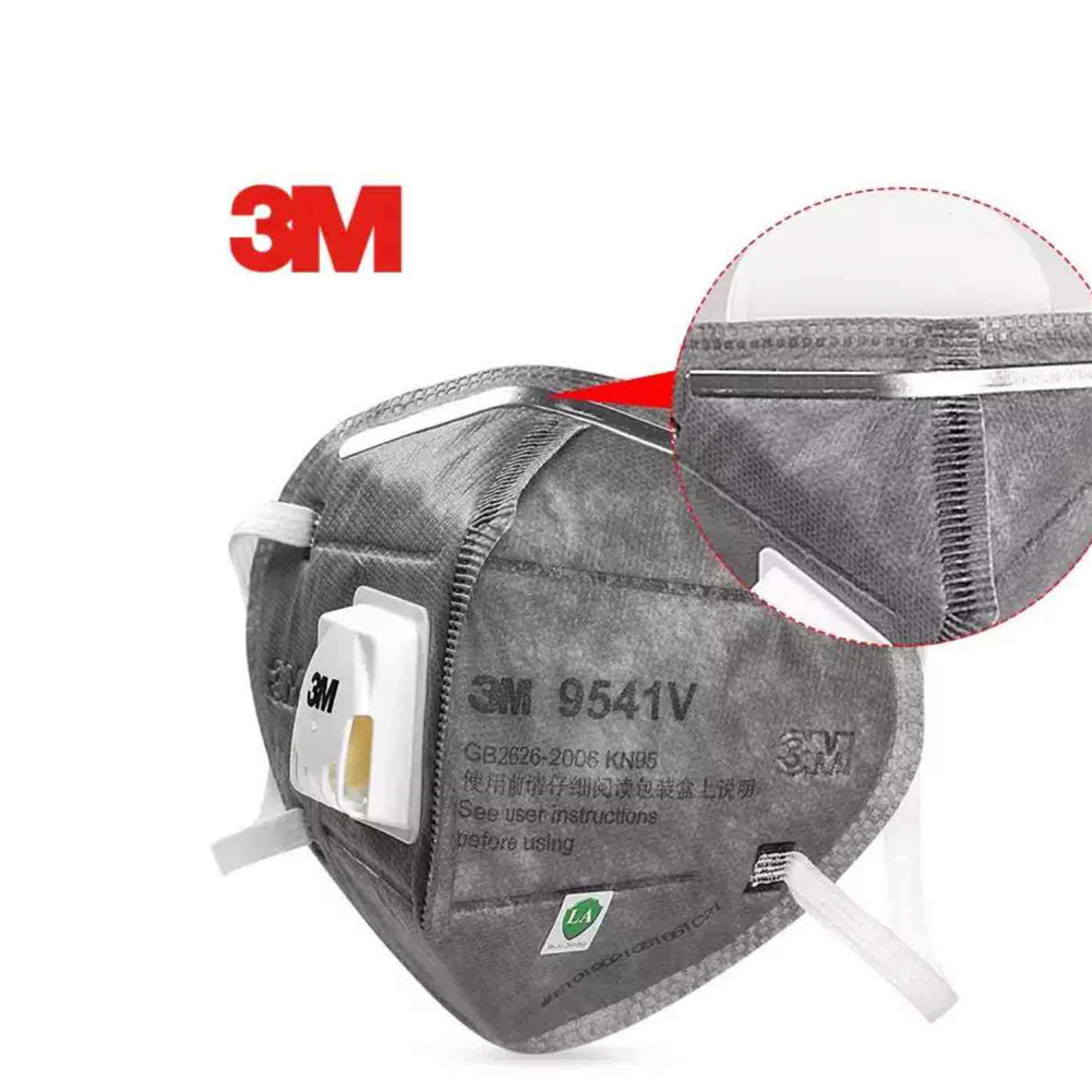 KN95 Active Carbon Face Mask with Valve Adjustable Nose Clip Protective Mask 3M 9541V 1pc