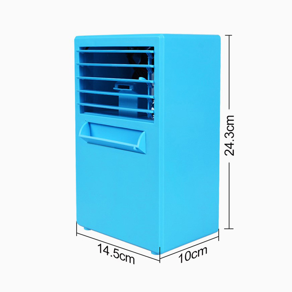 Home Mini Air Conditioner Fan Portable USB Air Cooling Fan for Home Office European regulations_blue