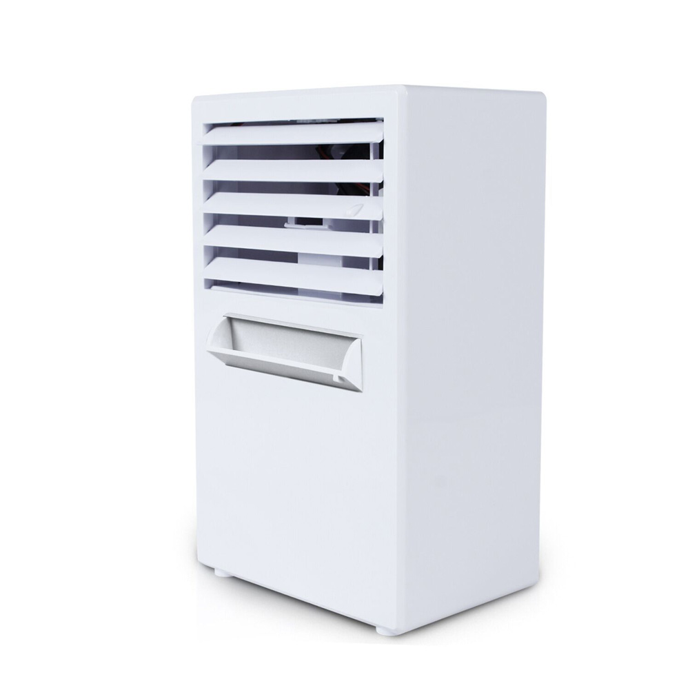 Home Mini Air Conditioner Fan Portable USB Air Cooling Fan for Home Office British regulatory_white