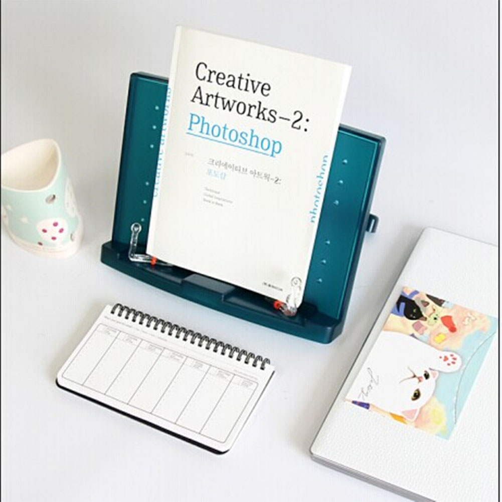 Fashion Portable Adjustable Music Cook Book Document Reading Desk Stand Holder Bookstand