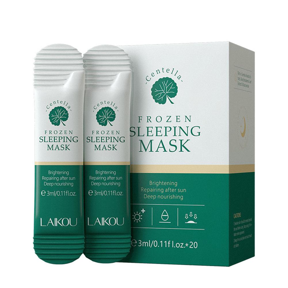 20pcs 3ml Centella Asiatica Jelly Face  Mask Moisturizing Nourishing Whitening Shrink Pores No Wash Sleep Care Mask 3ml*20/boxed