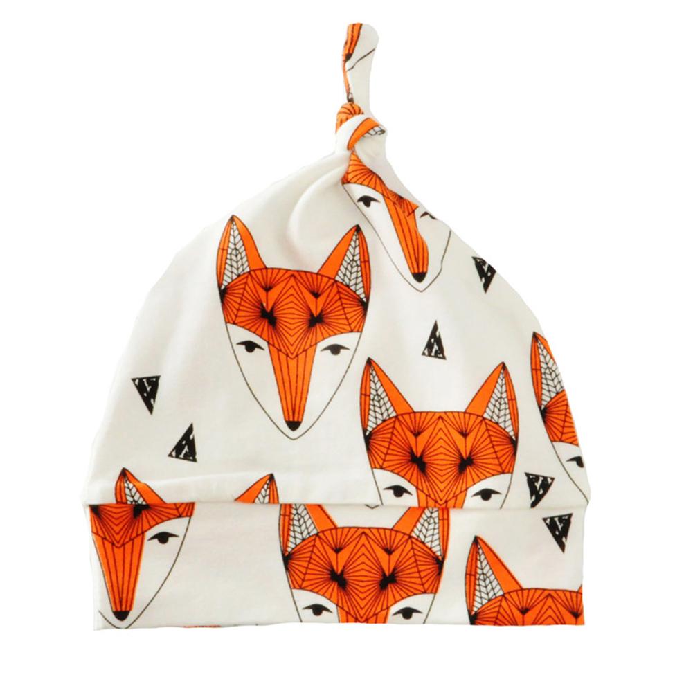 Baby Print Knitted Beanie Cap Cartoon Animal Cotton Hat Children Unisex Spring/Autumn