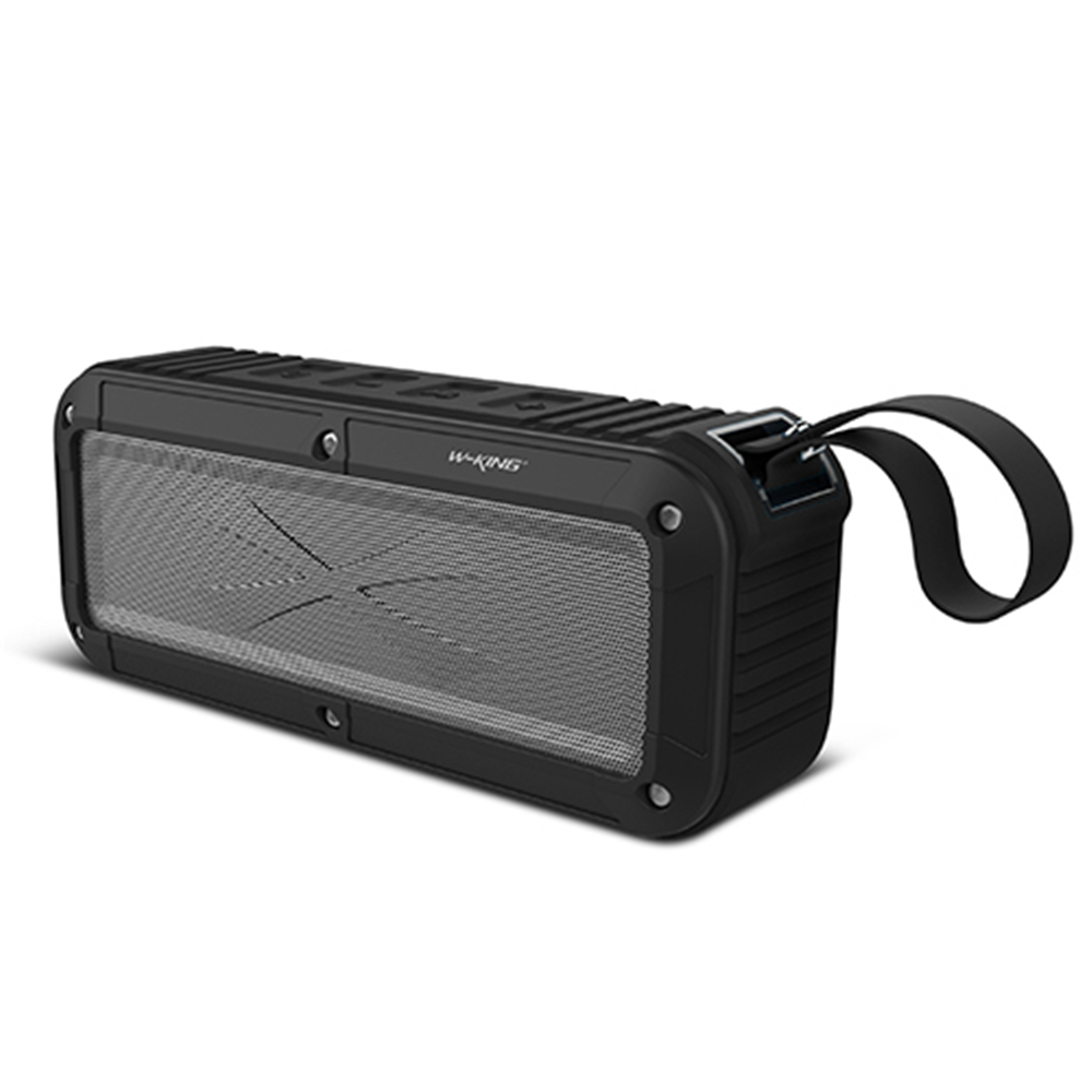 W-king Bluetooth Speaker S20 IPX6 2000mAh FM Wireless Portable Speaker with Microphone and NFC Support for Cellphone Black
