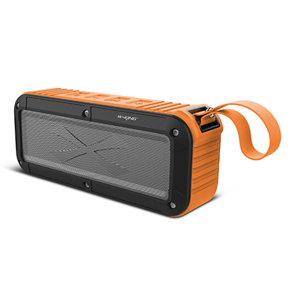 W-king Bluetooth Speaker S20 IPX6 2000mAh FM Wireless Portable Speaker with Microphone and NFC Support for Cellphone Orange