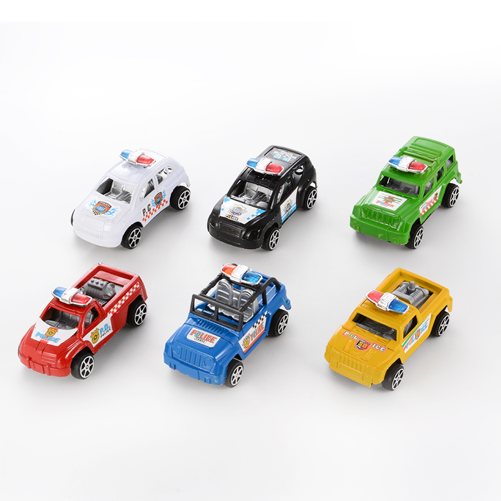 [US Direct] Children Mini Car Toys Pull Back Cars Vehicle Playset (6 Pieces)