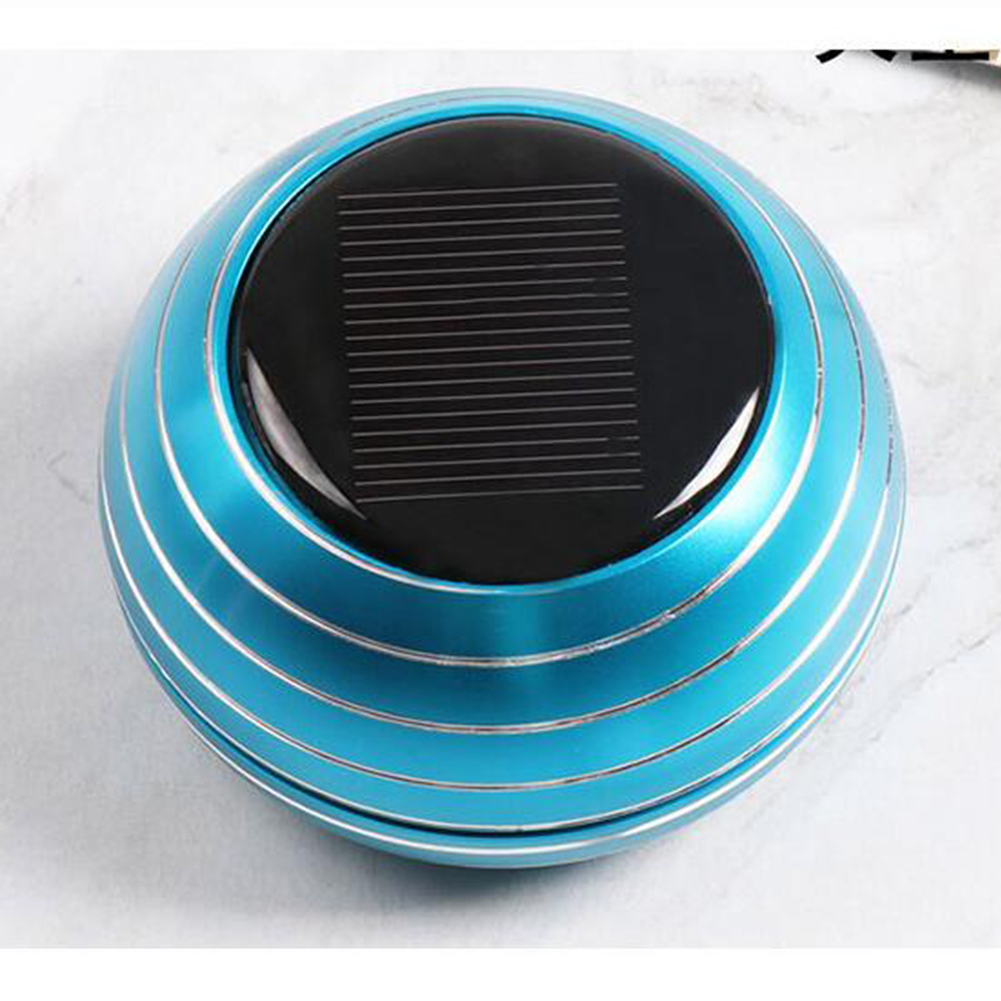 Solar Rotating Car Perfume Seat Car Perfume Decoration Ornament Car Aromatherapy Instrument Car Interior Air Fresher Purifier Blue