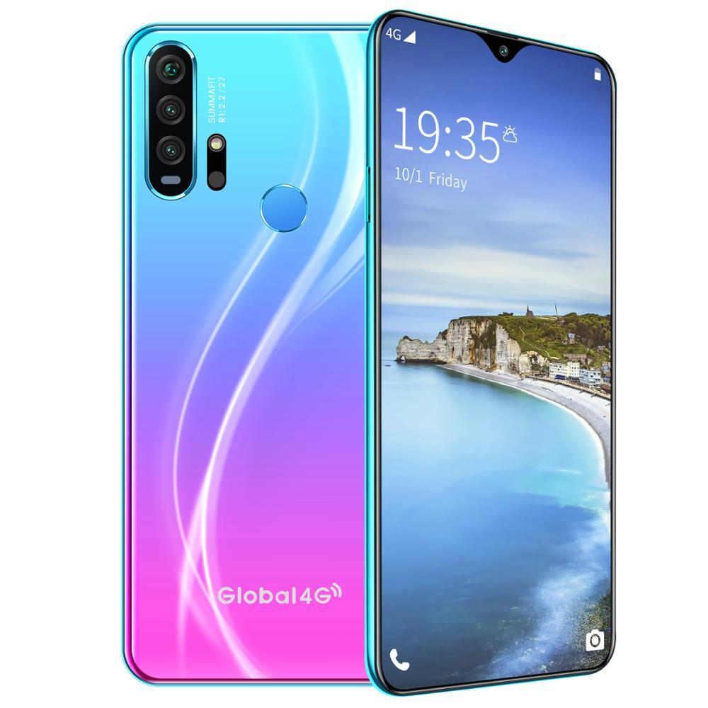 R30 pro Smart Phone 4G Network 3G + 64g High Configuration Face Recognition Fingerprint Recognition Phone blue_British regulatory