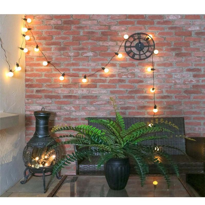 5m/6.5m LED Light Solar Power Warm White Lamp Outdoor Garden Courtyard Lighting Transparent shell_6.5m 30LED