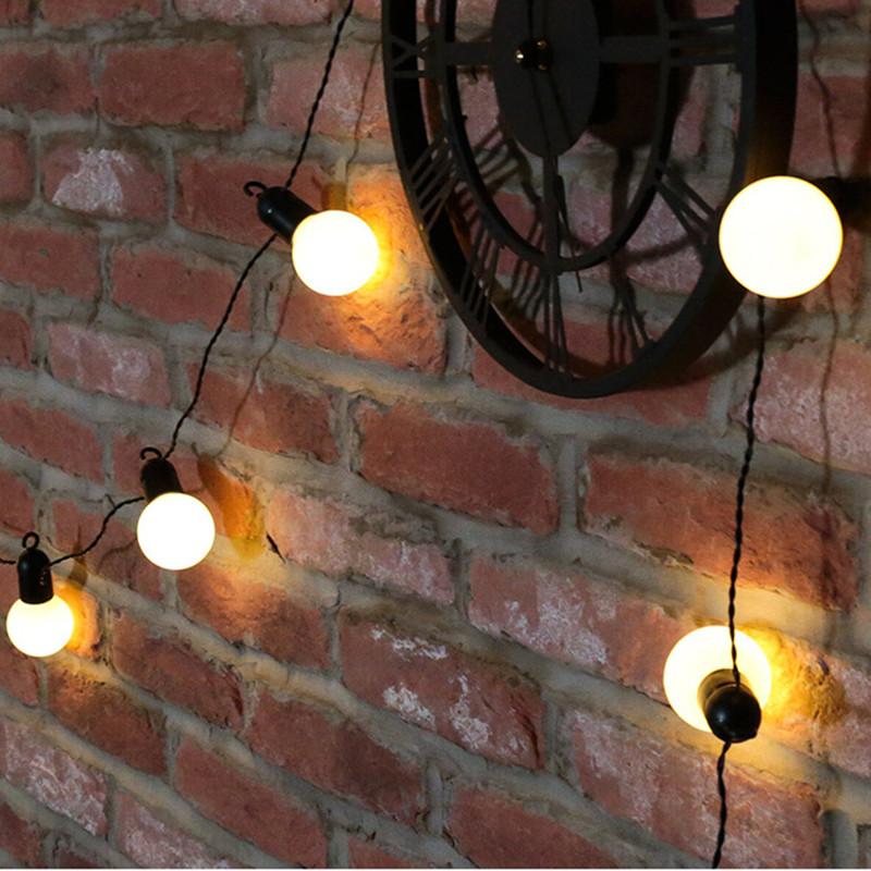 5m/6.5m LED Light Solar Power Warm White Lamp Outdoor Garden Courtyard Lighting White shell_5m 20LED