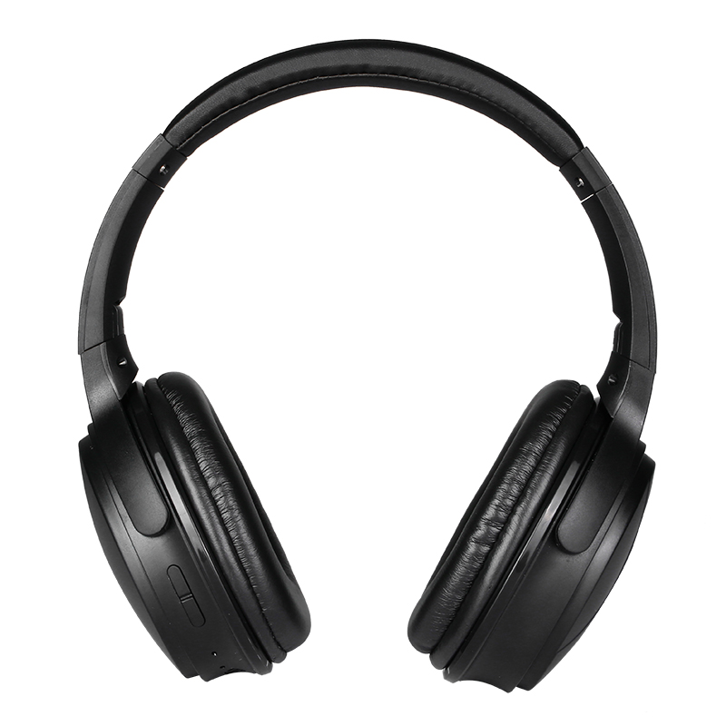 Wireless 5.0 Bluetooth-compatible Headset All-inclusive Earmuffs Subwoofer Stereo Foldable Headset Black