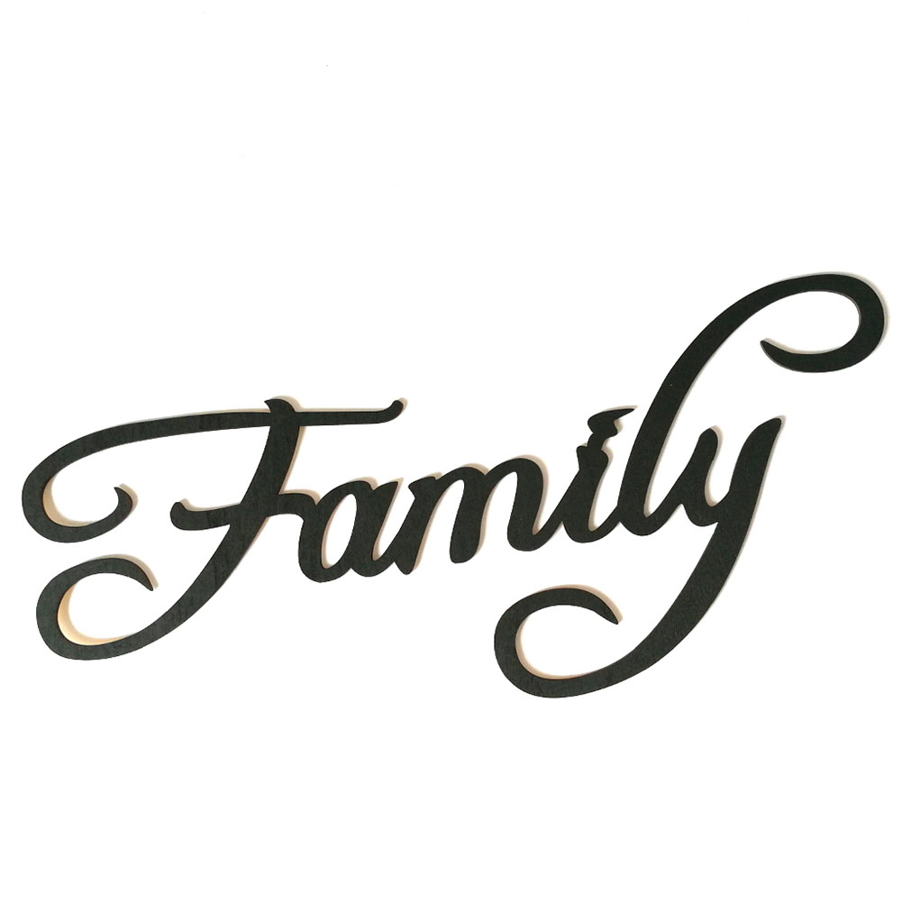Wooden Black Letter Wall Decoration Stylish Hanging Pendant Ornament  Family