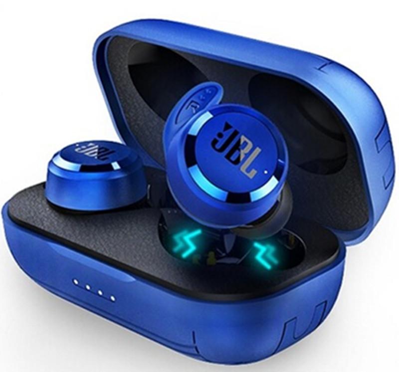 JBL T280 TWS Bluetooth Wireless Headphones with Charging Case Earbuds Sport Running Music Earphones  blue