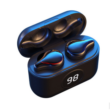 SE16S Bluetooth 5.0 Wireless Headset Waterproof Sweatproof Sports Earbuds TWS Mini Binaural In-ear Earphones With Charging Box black