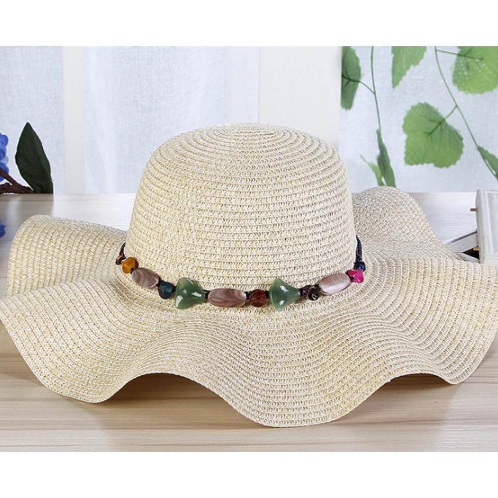 Women Summer Elegant Outdoor Wide Brim Sunscreen Straw Hat