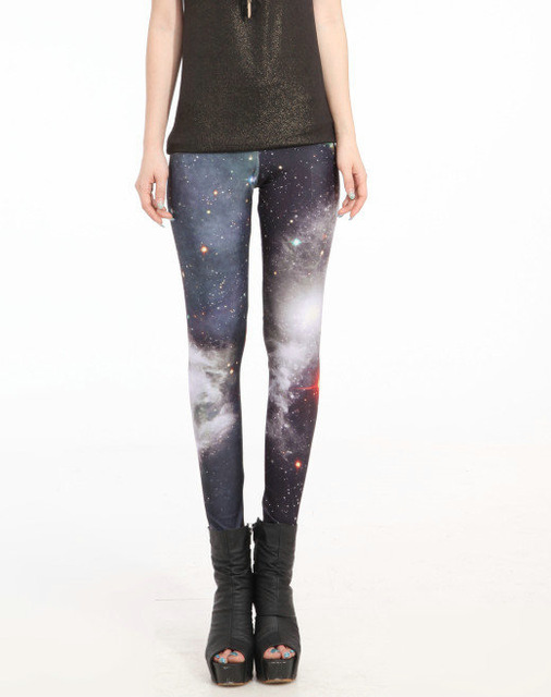 Hot Sales S To 4XL Women Punk Galaxy Space Women Leggings 6 Patterns Red Blue Grey Purple Casual Leggins