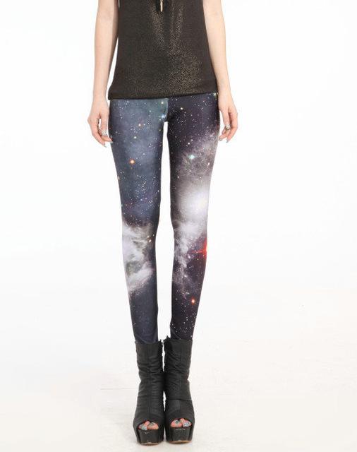 Hot Sales S To 4XL Women Punk Galaxy Space Women Leggings 6 Patterns Red Blue Grey Purple Casual Leggins