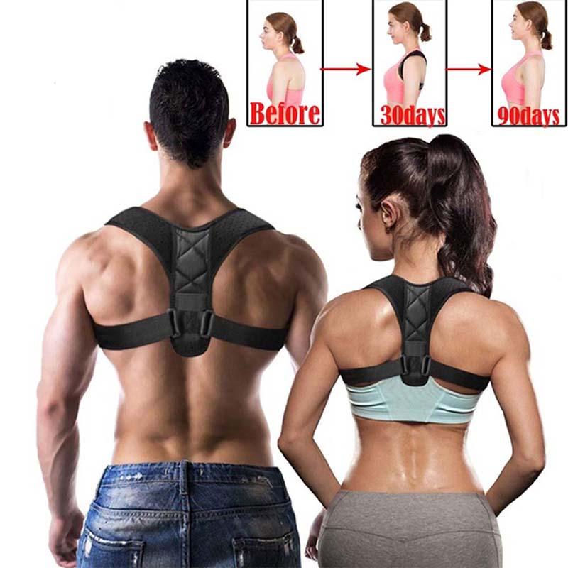 Adjustable Upper Back Shoulder Support Posture Corrector For Adult Children Corset Spine Brace Back Belt Orthotics Back Support XL