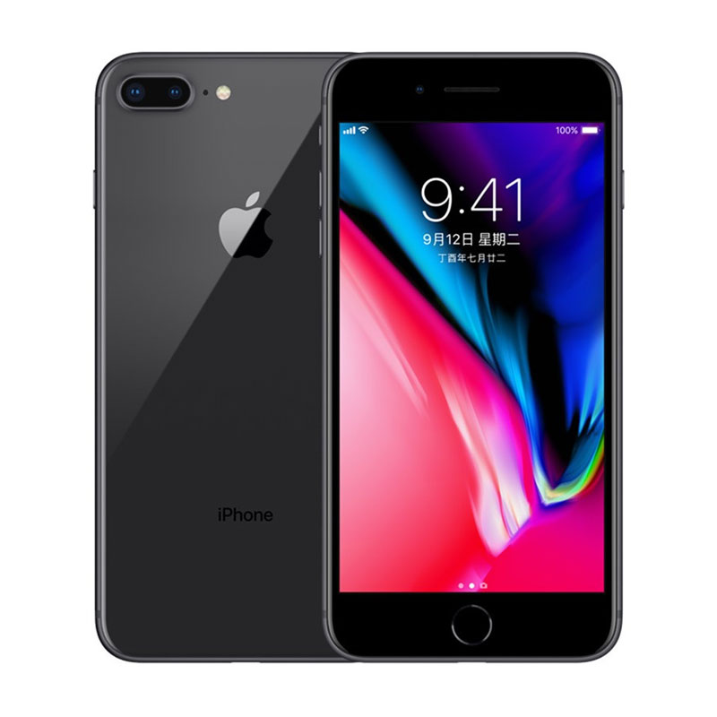 Apple IPhone 8 Plus 12MP+7MP Camera 5.5-Inch Screen Hexa Core Fingerprint Smartphone Deep gray_64GB