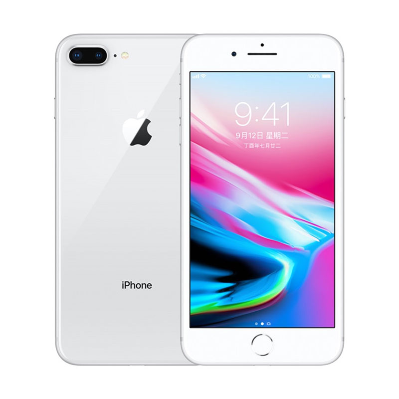 Apple IPhone 8 Plus 12MP+7MP Camera 5.5-Inch Screen Hexa Core Fingerprint Smartphone Silver_64GB