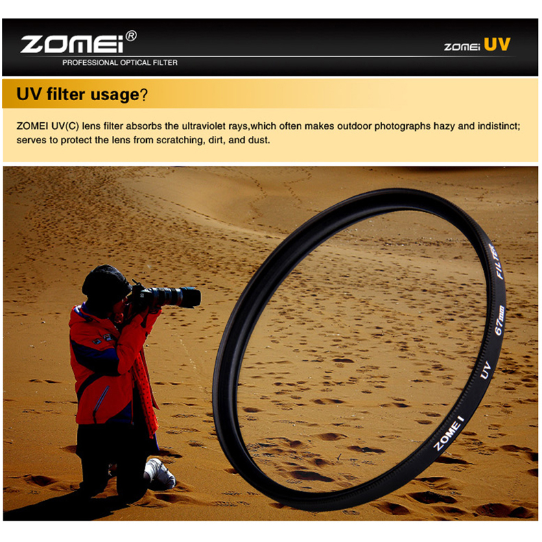 ZOMEI Ultra-Violet UV Filter Lens Protector for SLR DSLR Camera 77mm