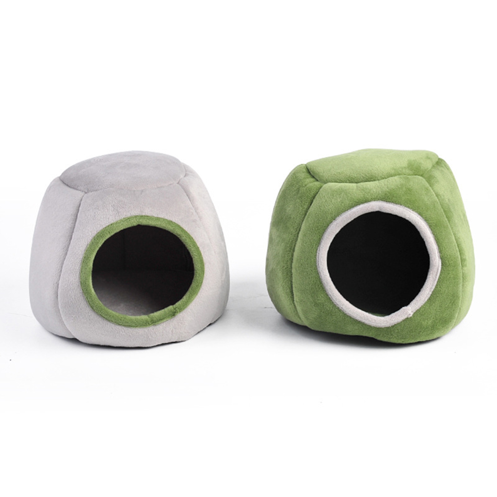 Warm Hamster Bed Rat Hedgehog Squirrel House Nest Pad for Pet Cage green_Stump nest