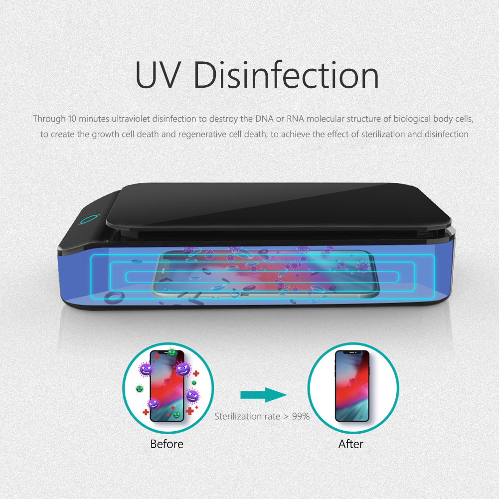 UV Sterilizer Phone Ultraviolet Disinfection Box for Jewelry Teethbrush Cleaning Disinfection