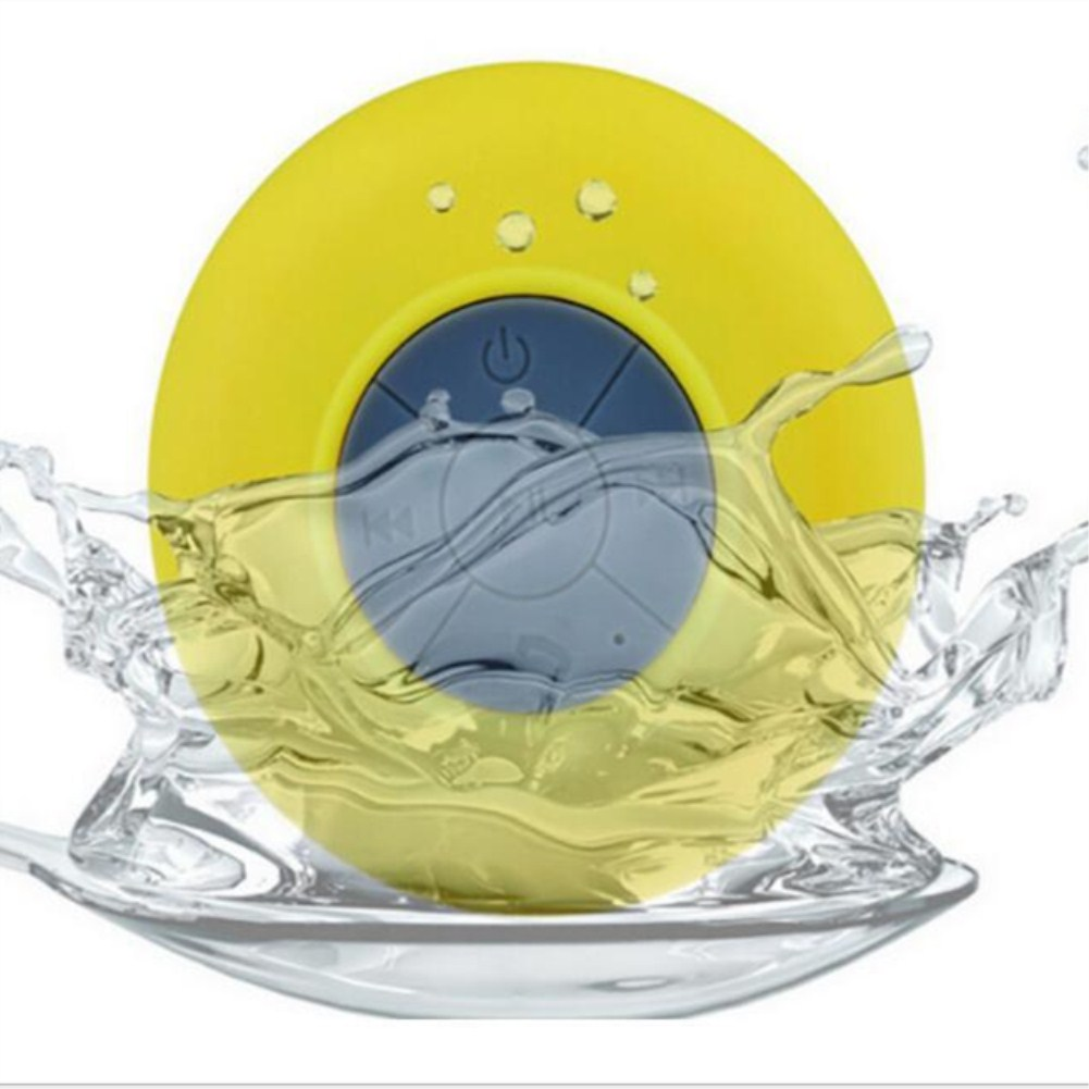 Waterproof Bluetooth Speaker Suction Cup Wireless Bluetooth Hand Free Call Speaker yellow