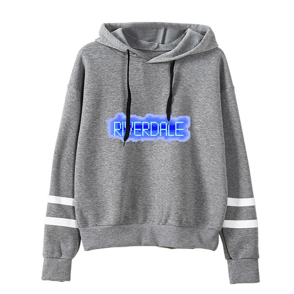 Men Women American Drama Riverdale Fleece Lined Thickening Hooded Sweater Gray C_L
