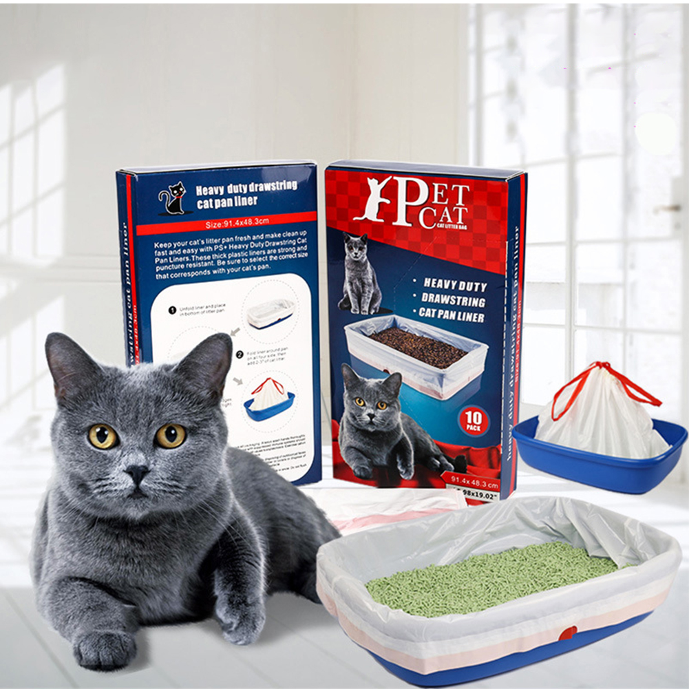 Large Thicken Automatic Convergent Pet Cat Litter Bags for Cat Litter Box large