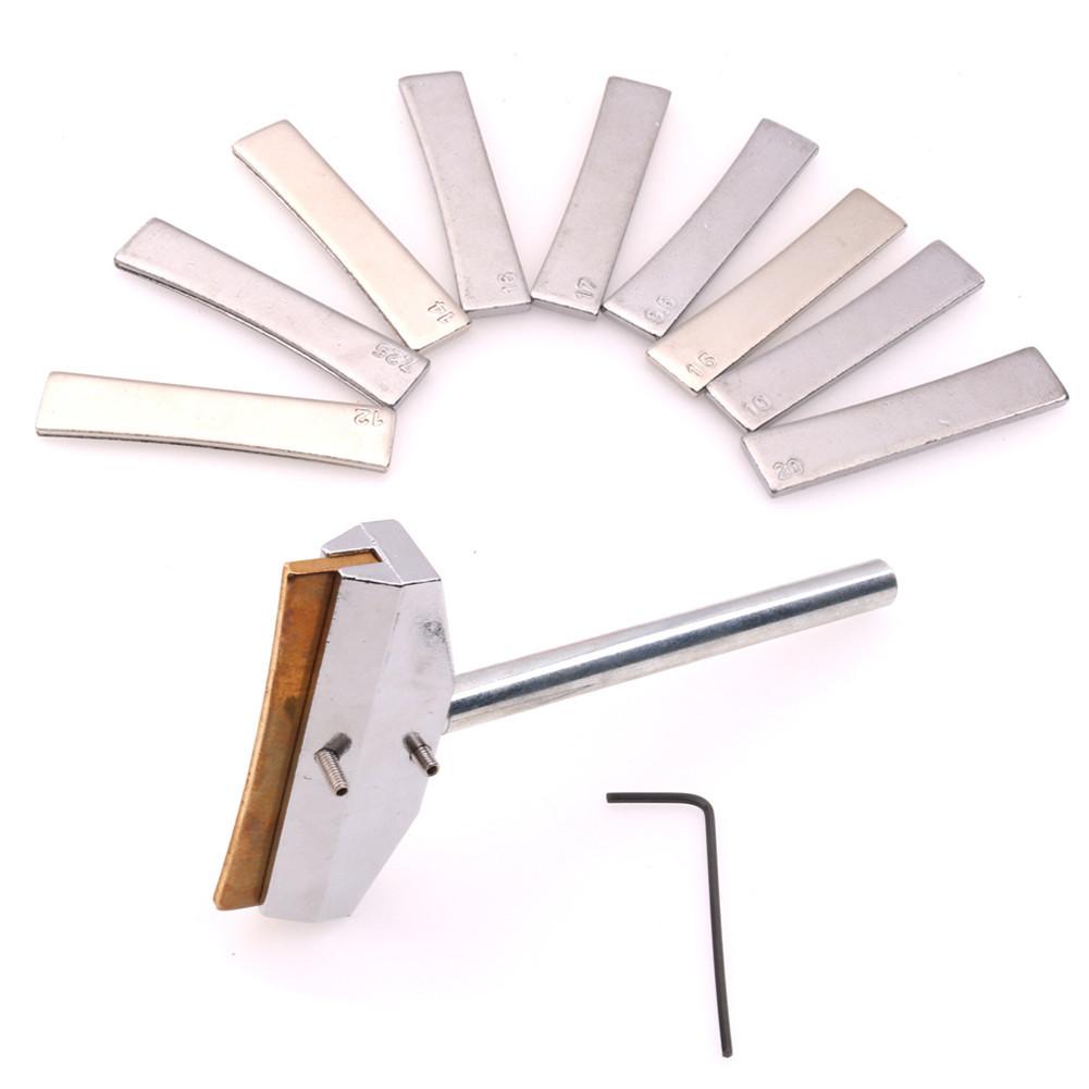 Fingerboard Fret Press Caul with Brass Insert for Guitar Bass Silver