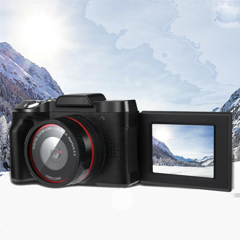 Digital Camera 2.4inch TFT LCD Screen Full HD 1080P 16MP Camera Professional Video Camera Camcorder Vlogging Flip Selfie Camcorder  black